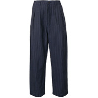 Universal Works striped wide-leg trousers - Blue