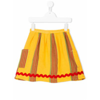 Bobo Choses striped pocket skirt - Yellow