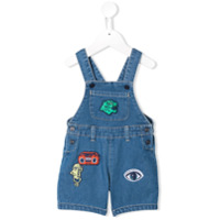Kenzo Kids patch detailed dungarees - Blue