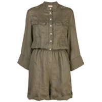 Nude button playsuit - Green