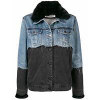Night Market fur collar denim jacket - Blue
