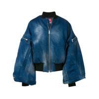 Diesel Red Tag batwing sleeve denim jacket - Blue