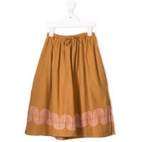 Bobo Choses printed hem skirt - Brown