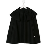 Lanvin Enfant ruffled cape coat - Black