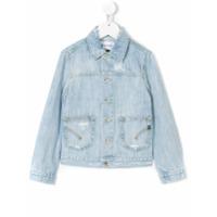 Dondup Kids distressed denim jacket - Blue