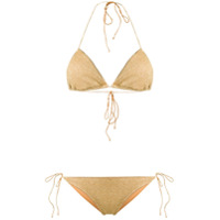 Oseree metallic lurex bikini - Gold