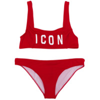 Dsquared2 Kids ICON print crop bikini