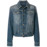 Saint Laurent embellished button jacket - Blue