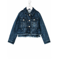Monnalisa embroidered denim jacket - Blue