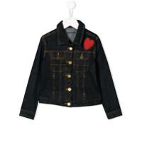 Zadig & Voltaire Kids heart patch denim jacket - Blue