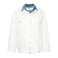 Natasha Zinko double collar denim jacket - White