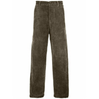 Ziggy Chen pinstripe wide leg trousers - Green