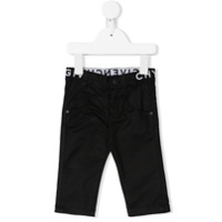 Givenchy Kids logo embroidered jeans - Black