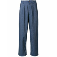 Universal Works double pleat trousers - Blue