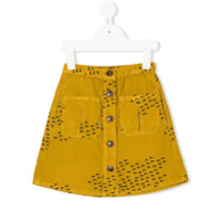 Bobo Choses front fastening A-line skirt - Yellow