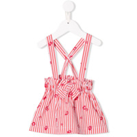 Il Gufo striped pinafore skirt - Red