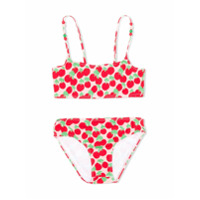 Stella Mccartney Kids TEEN Cherry print bikini - Pink