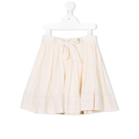 Bellerose Kids bow front pleated skirt - Neutrals
