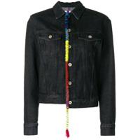 Loewe embroidered knot denim jacket - Black