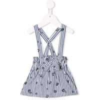 Il Gufo striped pinafore dress - Blue
