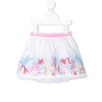 Monnalisa little mermaid print skirt - White