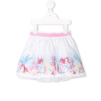 Monnalisa little mermaid print skirt - White