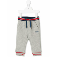Boss Kids striped drawstring jogging trousers - Grey