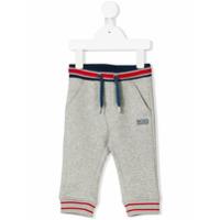 Boss Kids striped drawstring jogging trousers - Grey
