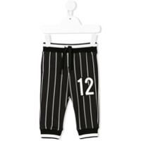 Dolce & Gabbana Kids striped track pants - Black