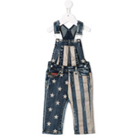 John Richmond Junior stars and stripes print dungarees - Blue