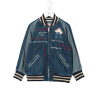 Denim Dungaree denim bomber jacket - Blue
