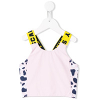 Stella Mccartney Kids printed swim top - Pink