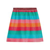 Gucci Kids striped layered glittery skirt - Multicolour
