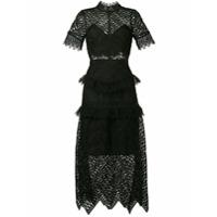Self-Portrait lace midi dress - Black