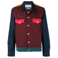 Calvin Klein Jeans panelled denim jacket - Red