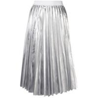 P.A.R.O.S.H. high-waist pleated skirt - Silver