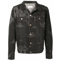 Kappa Sunney logo print denim jacket - Black