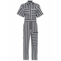 Reinaldo Loureno striped jumpsuit - Black
