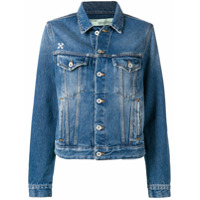 Off-White faded denim jacket - Blue
