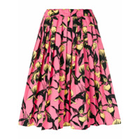 Prada floral pleated skirt - Pink