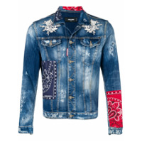 Dsquared2 patch-work denim jacket - Blue