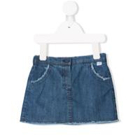 Il Gufo short denim skirt - Blue