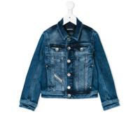 Diesel Kids bleached effect denim shirt - Blue