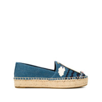 Tory Burch Seaside denim espadrilles - Blue