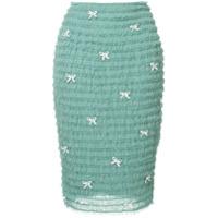 Tu Es Mon Trsor petit ribbon mesh frill skirt - Green