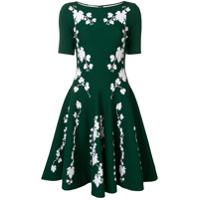 Oscar de la Renta floral print mini dress - Green