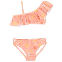 Knot Batik flower bikini - Orange