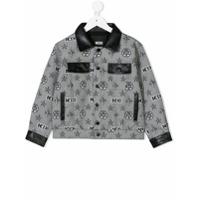 KTZ monogram print denim jacket - Black