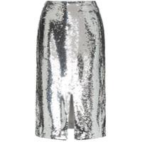 Ganni sonora sequin pencil skirt - Metallic