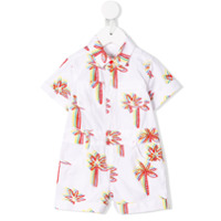 Stella Mccartney Kids Graphic palms playsuit - White